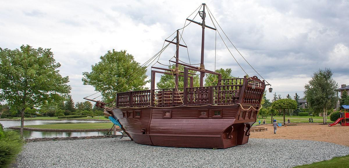 Детская площадка Корабль в КП Миллениум Парк