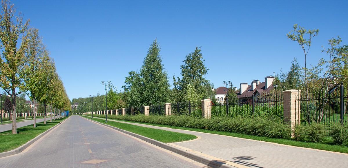 Панорама центрального бульвара в поселке Мэдисон Парк