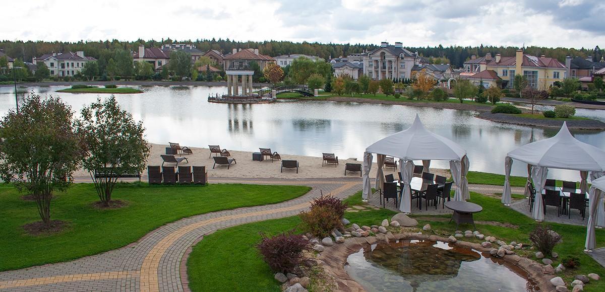 Панорама набережной озера, КП Гринфилд
