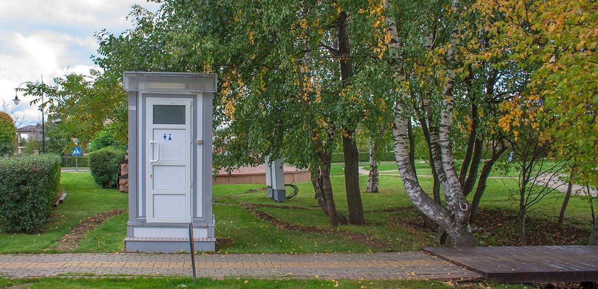 Уличный туалет в КП Гринфилд