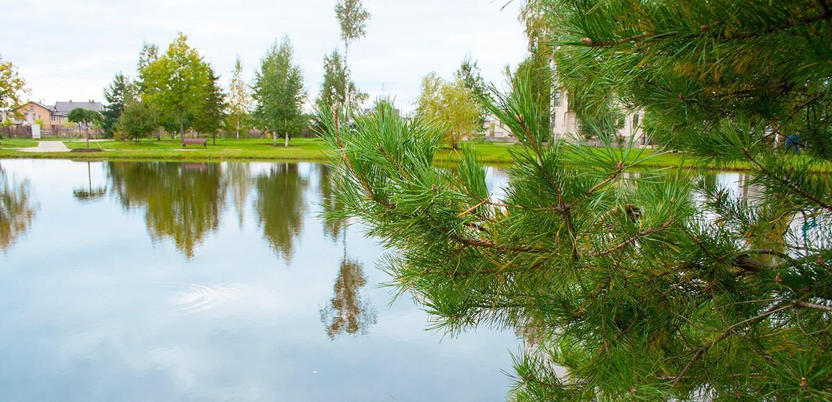 Озеро в поселке Новорижский