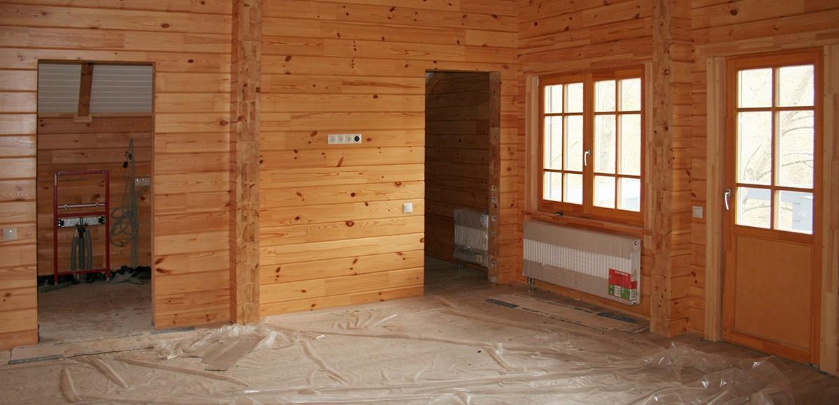 Дом из бруса внутри, вид 2, Усадьба Миронцево
