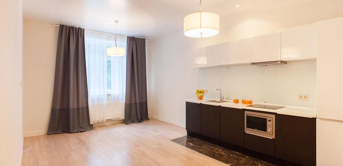 Кухня-гостиная, вид 1, квартира 4, Усово