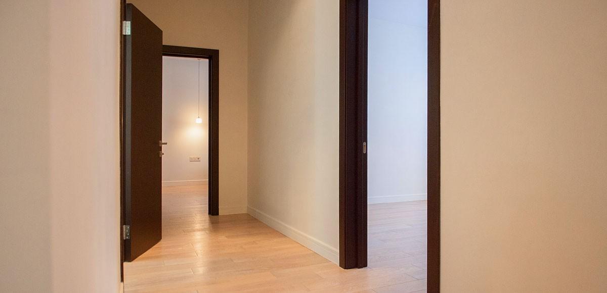 Коридор, вид на спальни, квартира 4, Усово