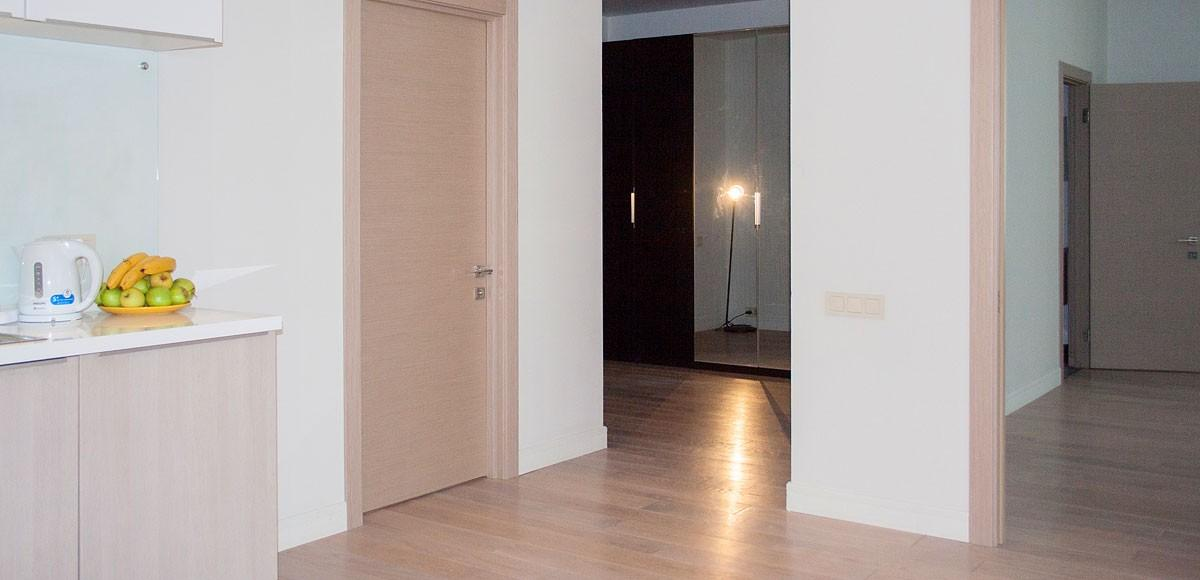Вид на коридор из кухни-гостиной, квартира 9, Усово
