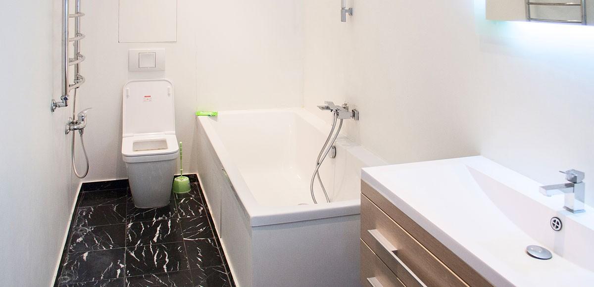 Ванная №2, вид 2, квартиры 9, Усово